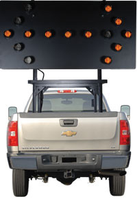 Vehicle Mounted Arrow Board 15 Lamp SolarTech