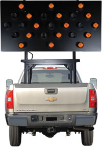 Vehicle Mounted Arrow Board 25 Lamp SolarTech